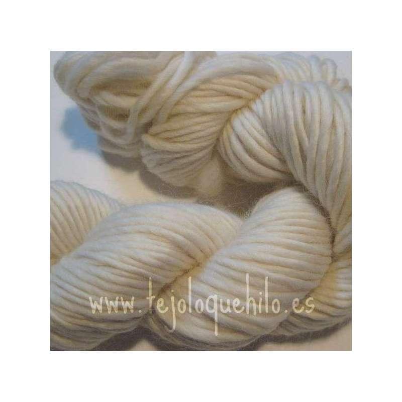 Mecha de lana cruda