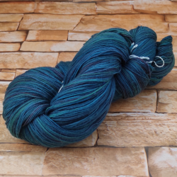 Marfil Lace Hand dyed Blau...