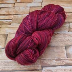 Marfil Lace Hand dyed Rojo